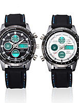 cheap -Men's Digital Watch Digital Silicone 30 m Water Resistant / Waterproof Day Date Analog - Digital Fashion Cool - Black / Silver Black One Year Battery Life