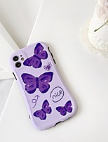 cheap -Case For Apple iPhone 7 8 7plus 8plus X XR XS XSMax SE(2020) iPhone 11 11Pro 11ProMax Shockproof  Pattern Back Cover Word  Phrase Butterfly  Cartoon TPU