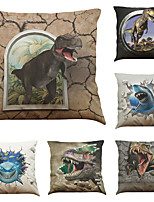cheap -9 pcs Linen Pillow Cover, 3D Dinosaur Modern Square Cover