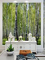 cheap -Custom Self-adhesive Mural Wallpaper Birch Forest Suitable for Background Wall Living Room Coffee Shop Restaurant Hotel Wall Decoration Art Room Wallcovering
