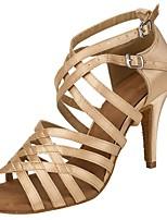 cheap -Women's Dance Shoes Latin Shoes Heel Cuban Heel Almond / Performance