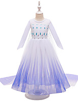 cheap -Frozen Princess Girls' Movie Cosplay Halloween Christmas Purple Dress Christmas Halloween / Juliet Sleeve