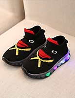 cheap -Boys' / Girls' LED Shoes Knit Trainers / Athletic Shoes LED Shoes Little Kids(4-7ys) / Big Kids(7years +) Walking Shoes LED Black Summer / Fall / Color Block