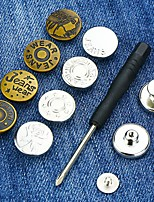 cheap -5pcs Reusable Detachable Buttons Jeans Clip Snap Button Perfect Fit Instant Universal Buckles Thin Waist Replacement No Sew Needed