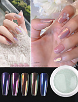 cheap -Nail fairy powder solid aurora powder ice transparent nude mirror chameleon magic mirror powder