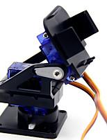 cheap -Servo Bracket PT Pan/Tilt Camera Platform Anti-Vibration Camera Mount for Aircraft FPV Dedicated Nylon PTZ for 9G SG90 MG90S