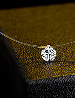 cheap -Women's Choker Necklace Pendant Necklace Necklace Dainty European Trendy Fashion Zircon White 40 cm Necklace Jewelry For Party Evening Street Birthday Party Beach Festival