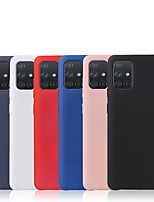 cheap -Case For Samsung Galaxy S20/S20 Plus/S20 Ultra/S10/S10 Plus/S10 Lite/S9/S9 Plus/M10/M20/M30  Shockproof Back Cover Solid Colored Silica Gel