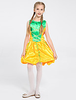 cheap -Princess Princess Tiana Dress Flower Girl Dress Girls' Movie Cosplay A-Line Slip Yellow Dress Children's Day Masquerade Polyester