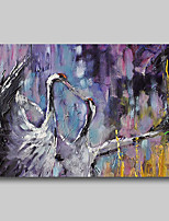 cheap -Oil Painting Hand Painted - Abstract Abstract Landscape Comtemporary Modern Rolled Canvas Birds