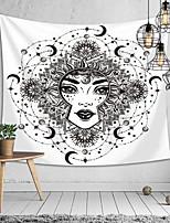 cheap -Polyester Tapestry Mandala Bohemia Wall Hanging Animal Moon Wolf Guns Yoga Mats Beach Towel Decor Livingroom