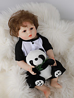 cheap -FeelWind 18 inch Reborn Doll Baby & Toddler Toy Reborn Toddler Doll Baby Boy Gift Cute Lovely Parent-Child Interaction Tipped and Sealed Nails Full Body Silicone LV057 with Clothes and Accessories