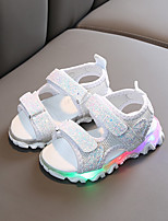 cheap -Girls' LED / Comfort PU Sandals LED Shoes Toddler(9m-4ys) / Little Kids(4-7ys) White / Black / Pink Summer