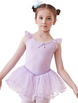 cheap -Kids' Dancewear Dress Ruching Girls' Training Daily Wear Polyester