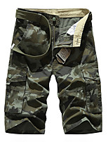 """cheap -Men's Hiking Shorts Hiking Cargo Shorts Camo Summer Outdoor 10"""" Standard Fit Breathable Quick Dry Front Zipper Sweat-wicking Cotton Shorts Bottoms Hunting Fishing Climbing Army Green Khaki 29 30 31"""