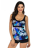 cheap -Women's Tankini Top Elastane Top Breathable Quick Dry Sleeveless Swimming Surfing Water Sports Summer / Stretchy