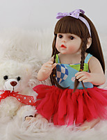 cheap -FeelWind 18 inch Reborn Doll Baby & Toddler Toy Reborn Toddler Doll Baby Girl Gift Cute Lovely Parent-Child Interaction Tipped and Sealed Nails Full Body Silicone LV064 with Clothes and Accessories