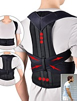 cheap -Adjustable Back Support Belt Back Posture Corrector Shoulder Lumbar Spine Support Back Protector