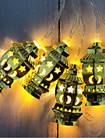 cheap -3M 20LEDs Muslim Ramadan String Light Wrought Iron Palace Lantern Garland String Lights Section Three 5th Batteries Operated Holiday Party Xmas Lantern Light Without Battery