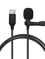 cheap -1.5m Mini Mic Type-C Microphone Clip-on Lapel Mic Lavalier Microphone For Huawei Xiaomi Samsung Android Mobile Phone