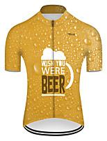 cheap -21Grams Men's Short Sleeve Cycling Jersey Nylon Polyester Orange 3D Gradient Oktoberfest Beer Bike Jersey Top Mountain Bike MTB Road Bike Cycling Breathable Quick Dry Ultraviolet Resistant Sports
