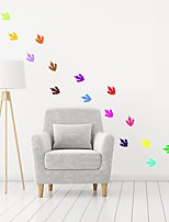 cheap -Dinosaur Footprints Decorative Wall Stickers - Plane Wall Stickers Nursery / Kids Room