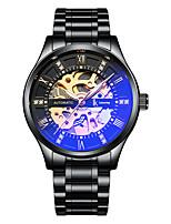 Недорогие -Муж. Механические часы С автоподзаводом Черный / Белый Защита от влаги Фосфоресцирующий Аналоговый Мода Cool - Белый Черный