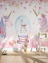 cheap -Custom Self-adhesive Mural Tianma Children Cartoon Map Suitable for Background Wall Coffee Shop Hotel Wall Decoration Art Room Wallcovering