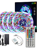cheap -ZDM  High-Quality 20M(4*5M) Waterproof 2835 RGB SMD Flexible Led Strip Lights IR 44 Key 1 to 4 Controller  DC12V