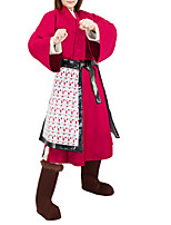 cheap -Mulan Outfits Women's Movie Cosplay Hanfu Fuchsia Halloween Terylene