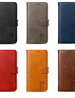 cheap -Case For Huawei Huawei P40/P40 Pro/P40 Lite/P30/P30 Pro/P30 Lite/P20/P20 Pro/P20 Lite/Mate 30/Mate 30 Pro/Mate 20 Card Holder / Shockproof / Flip Full Body Cases Solid Colored PU Leather / TPU