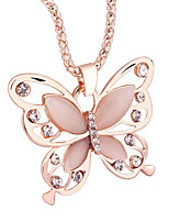 cheap -Women's Choker Necklace Pendant Necklace Butterfly Dainty Artistic Trendy Fashion Chrome Rose Gold 45 cm Necklace Jewelry For Prom Street Birthday Party Beach Festival