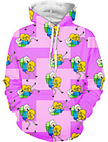 cheap -Inspired by Adventure Time Cosplay Costume Hoodie Polyster Print Printing Hoodie For Men's / Women's