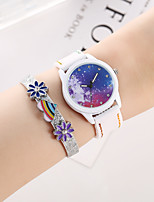 cheap -Women's Quartz Watches Vintage Colorful White Silicone Quartz White Chronograph Creative Casual Watch 1 set Analog / Imitation Diamond