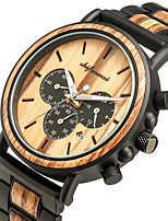 cheap -Men's Sport Watch Japanese Quartz Modern Style Stylish Wood Water Resistant / Waterproof Wooden Analog Fashion Cool - Black Brown