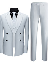 cheap -Tuxedos Tailored Fit Notch Double Breasted Six-buttons Polyster / Polyester Textured / British / Fashion