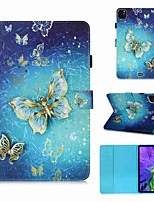 cheap -Case For Apple iPad Pro 11''(2020) / iPad 2019 10.2 / Ipad air3 10.5' 2019 Wallet / Card Holder / with Stand Full Body Cases Golden Butterfly PU Leather / TPU for iPad Air / iPad 4/3/2 / iPad (2018)
