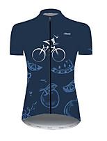 cheap -21Grams Women's Short Sleeve Cycling Jersey Nylon Polyester Blue Fruit Watermelon Lemon Bike Jersey Top Mountain Bike MTB Road Bike Cycling Breathable Quick Dry Ultraviolet Resistant Sports Clothing
