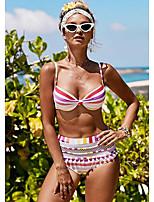 cheap -Women's Tankini Swimsuit Striped Strap Swimwear Bathing Suits Rainbow