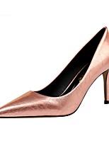 cheap -Women's Heels Summer Stiletto Heel Pointed Toe Daily PU White / Black / Yellow