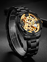 cheap -WLISTH Men's Mechanical Watch Automatic self-winding Modern Style Stainless Steel Black / Silver / Gold 30 m Water Resistant / Waterproof Hollow Engraving Noctilucent Analog Skeleton Big Face -