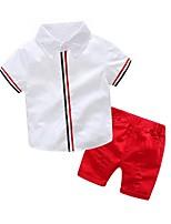 cheap -Kids Boys' Basic Print Short Sleeve Clothing Set Red