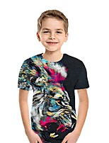 cheap -Kids Boys' Street chic Geometric Short Sleeve Tee Black