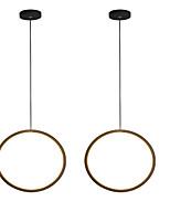 cheap -2pcs/lot Dia30 cm LED15W Mini Pendant Light Aluminum Circle / Mini Painted Finishes Black White Frame for Living Bed Dinning Room Modern 110-120V / 220-240V
