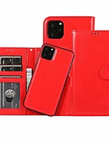 cheap -Case For Apple iPhone 11 / iPhone 11 Pro / iPhone 11 Pro Max Wallet / Card Holder Full Body Cases Solid Colored PU Leather for iPhone / X / XR / XS / XS Max / SE 2020 / 7 Plus / 8 Plus / 7 / 8