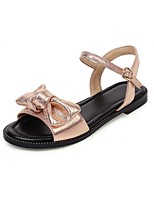 cheap -Girls' Mary Jane PU Sandals Flat Sandals Big Kids(7years +) Bowknot / Buckle Pink / Gold / Silver Summer