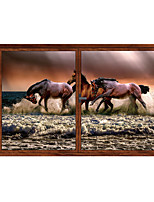 cheap -Galloping Horse / Animals Wall Stickers Animal Wall Stickers Decorative Wall Stickers PVC Home Decoration Wall Decal Wall Decoration 1pc