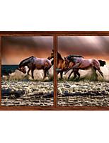 Недорогие -Скачущую Лошадь / животные наклейки на стены животных наклейки на стены декоративные наклейки на стены пвх украшения дома наклейки на стены украшения стены 1 шт.