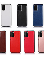 cheap -Case For Samsung Galaxy S20/S20 Plus/S20 Ultra/S10/S10E/S10 Plus/S9/S9 Plus/Note 10/Note 10 Plus/A70/A70S/A90/A50 Card Holder / Shockproof / Flip Full Body Cases Solid Colored PU Leather / TPU