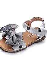 cheap -Girls' First Walkers Polyester Sandals Flat Sandals Toddler(9m-4ys) Walking Shoes Polka Dot Gray Summer / Booties / Ankle Boots